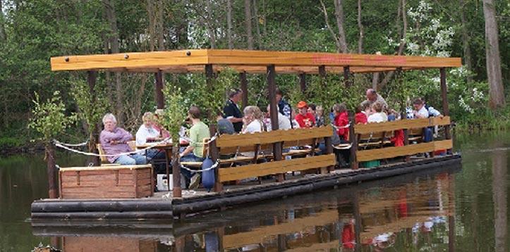 Floßfahrt mit bis zu 32 Personen