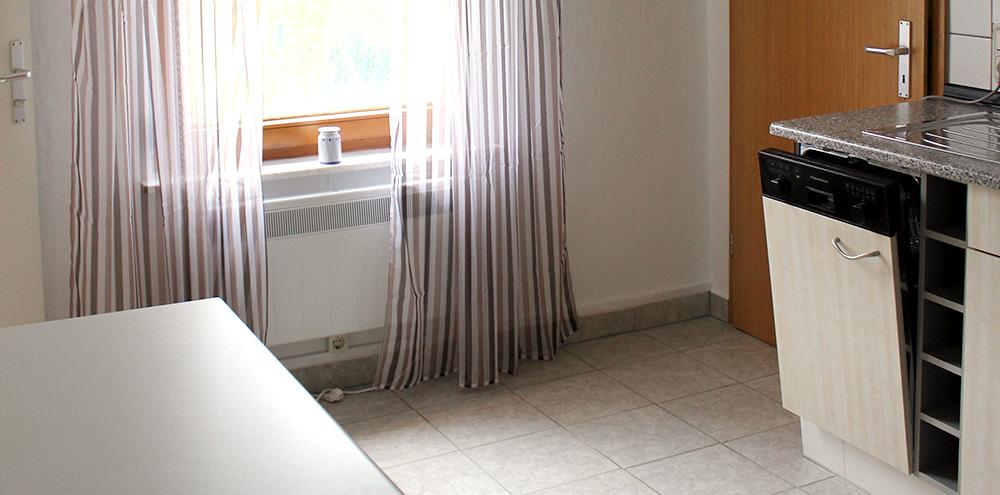 Küche mit Spülmaschine im Erdgeschoss